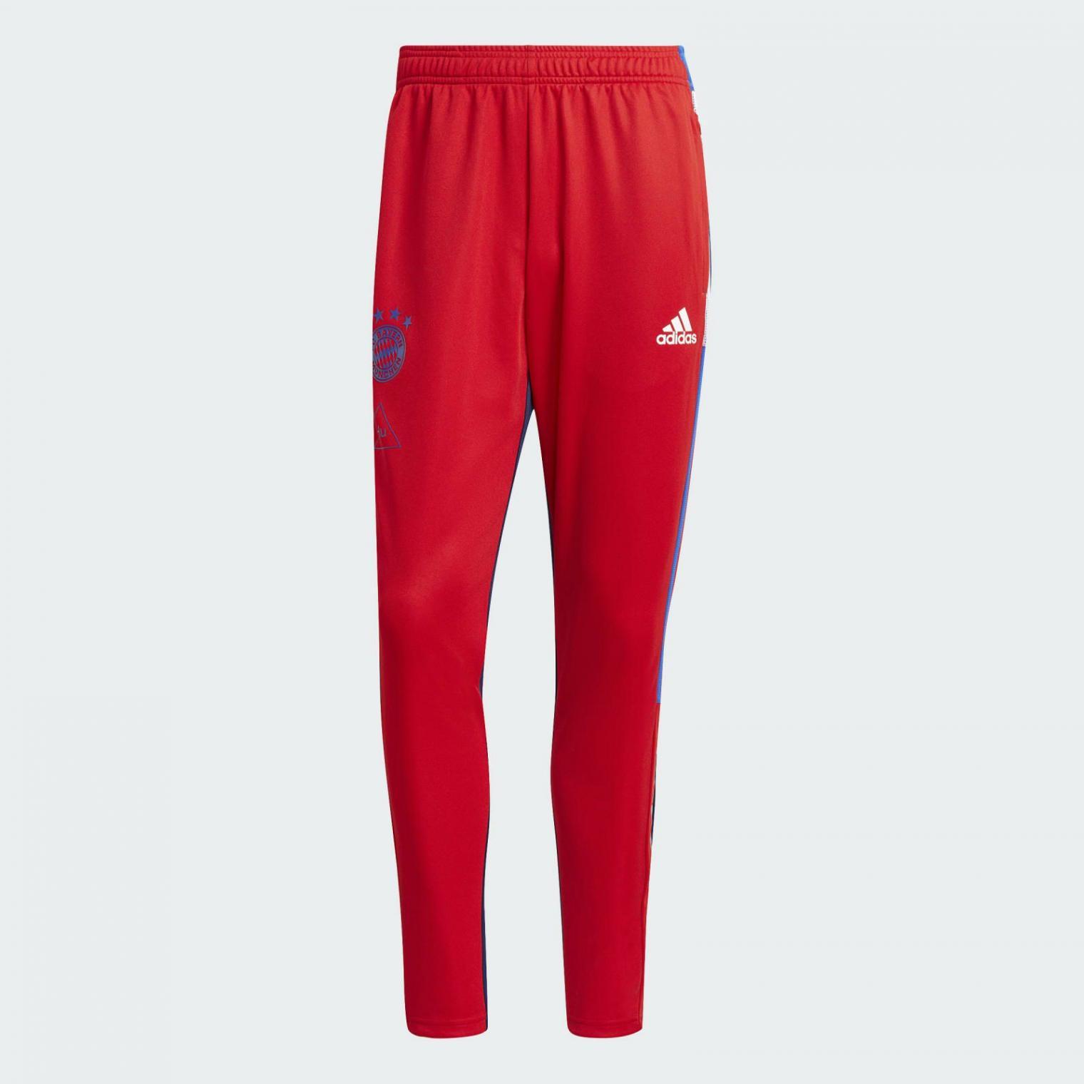 Pantalon Entrenamiento Fc Bayern Human Race Fcb True Red Dark Blue Pantalones Adidas Hombre Starline Magicians